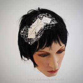 Fascinator Braut - Origamiblüten