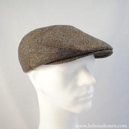 Flatcap Ben (fischgrät anthrazit/khaki)