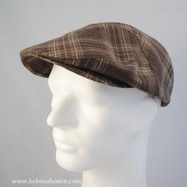 "Flatcap ""Ben"" (braun-beige kariert)"