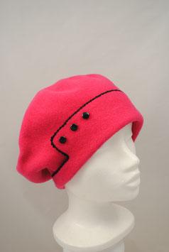 """Baskenmütze """"Maria"""" - Wolle pink"""