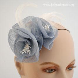 Sinnamay Rosen Fascinator (Hellblau oder Dunkelblau)