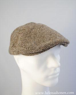 """Flatcap """"Ben"""" (beige-grau fischgrät)"""