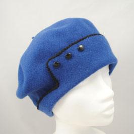 "Baskenmütze ""Maria"" - Wolle blau"