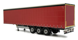 Pacton curtainsider trailer plain red