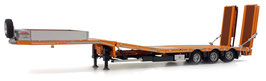 Nooteboom semi lowloader yellow, wooden panels