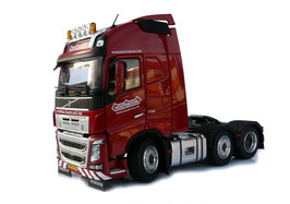Volvo FH16 6x2 red Nooteboom
