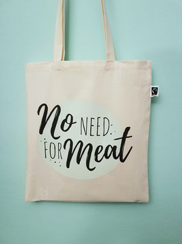 "Shoppingbag ""no need for meat"""