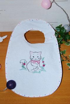 Bavoir chat blanc