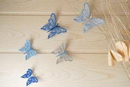 Papillons muraux bleu