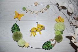 Couronne prénom bébé léopard