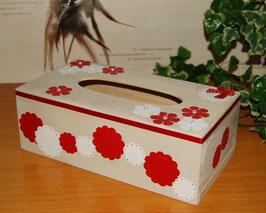 Boîte à mouchoirs fleurs