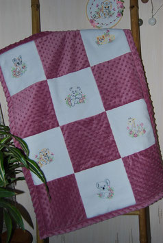 Couverture minky animaux sauvages