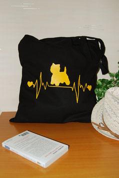 Tote Bag Westie noir