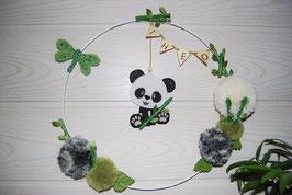 Couronne prénom bébé panda