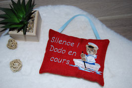 Coussin Ourson marin