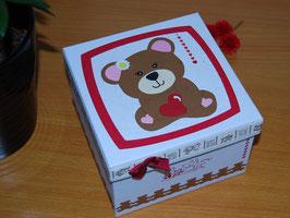 Boîte Ourson rouge