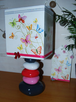 Lampe galets Papillons