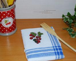 Torchon de cuisine framboises