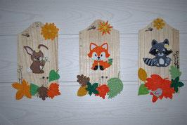 Lot de 3 planches animaux de la forêt