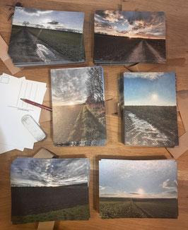 """Postkarten Set """"Winter im Weinviertel"""""""