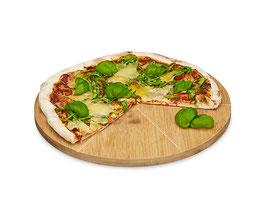 Pizzateller und Schneidbrett aus Bambus