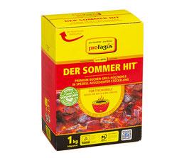 proFagus Sommerhit - Premium Buchen Grill-Holzkohle für Tischgrills - 1 KG