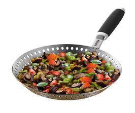 Feuerdesign Edelstahl Grill- und Gemüsepfanne