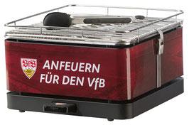 Feuerdesign Teide Holzkohle-Tischgrill VfB Stuttgart Edition - Limitierte Auflage