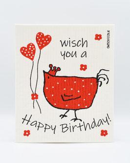 """Owoschfetzn """"Happy Birthday"""" rot"""