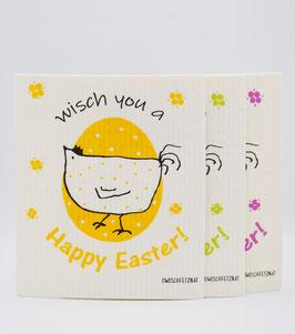 "Owoschfetzn ""Henne Berta - Wisch you a Happy Easter!"" 3er-Set"