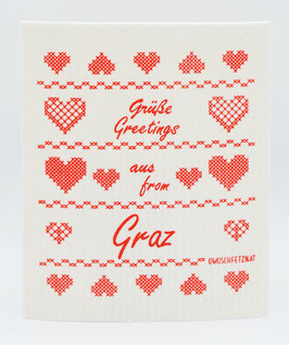 "Owoschfetzn Kreuzstich ""Grüße aus Graz"""