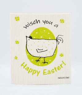 "Owoschfetzn ""Henne Berta - Wisch you a Happy Easter!"" grün"