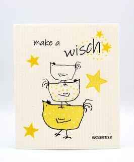 """Owoschfetzn """"Make a Wisch"""" gelb"""