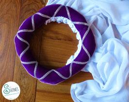 Coiffe médiévale Violette - sur mesure