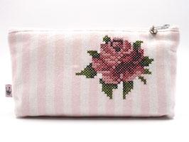 Kosmetiktäschchen «Rose» Greengate gestreift