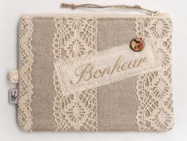 Kosmetiktäschchen «Bonheur» Beige