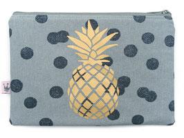 Maxitäschchen «Ananas» Blaugrau