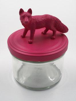 Tierliglas «Fuchs» Magenta