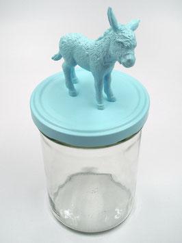 Tierliglas «Eseli» Hellblau