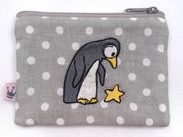 Mini Täschchen bestickt «Stärne Pinguin»