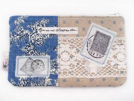 Kosmetiktäschchen «Stamps» Blau