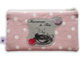 Miditäschchen «Macarons» Leinen
