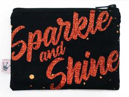Minitäschchen «Sparkle and Shine» schwarz