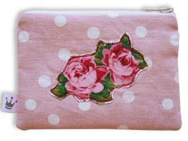 Mini Täschchen Leinen «Rosenblüten»