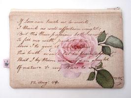 Maxitäschchen «Script Rose»