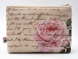 Kosmetiktäschchen «Script Rose»