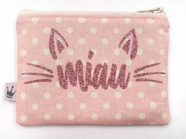 Minitäschchen «Miau» rosa