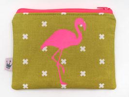 Minitäschchen «Flamingo» Neonpink