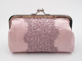 Abendtasche mit Spitze, rosa