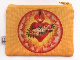 Minitäschchen «Flammendes Herz I»